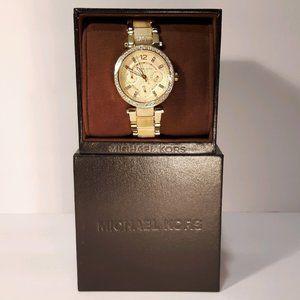 Michael Kors Quartz Champagne Dial Ladies Watch